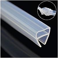 Ducha Protector de puerta sello, 3m largo baño ducha puerta de sellado flexible de cristal para 4–6mm de cristal de hasta 8mm Gap impermeable de silicona