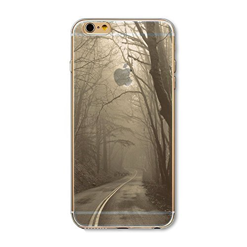 Coque iPhone 7 Housse étui-Case Transparent Liquid Crystal en TPU Silicone Clair,Protection Ultra Mince Premium,Coque Prime pour iPhone 7-Paysage-style 7 7
