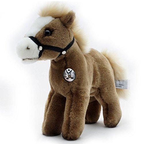 Pony FENJA Pferd Isländer mit Halfter windfarben mit Halfter Plüschtier von kuscheltiere.biz -