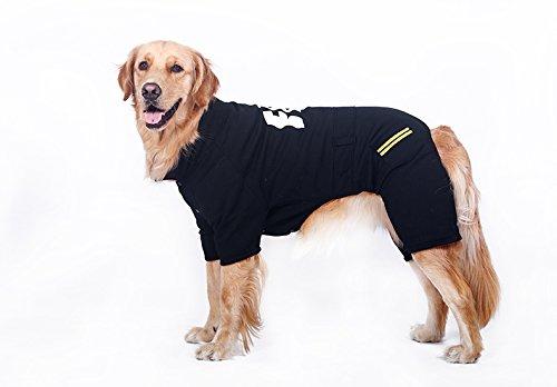 Pet vier Ecken von Kleidung, kalte Winterkleidung, Hund Kleidung (Schwarz 2XL)