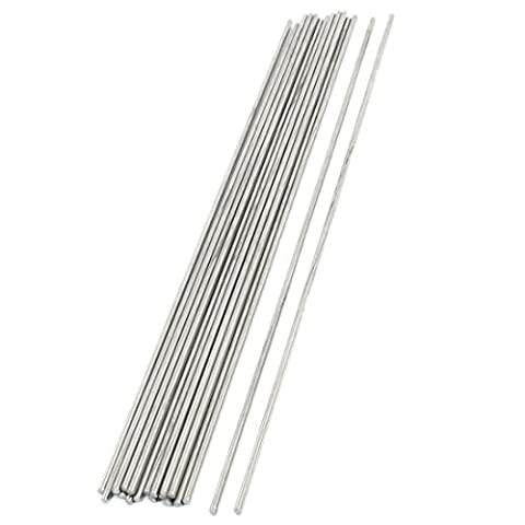 20PCS RC Aircraft Parts Stainless Steel Straight Bar Shaft 250 x 2.5mm