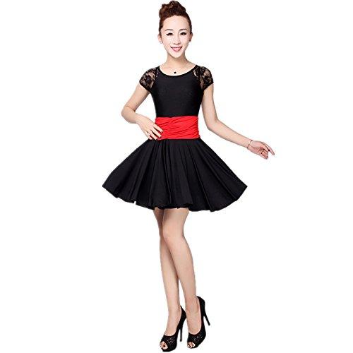 Dance Step Kostüme (GBDSD Kurzarm-Kleid Performance Kleidung Square Dance großen Rock Röcke Latin Tanzwettbewerb Kleidung Anzug , xxxl ,)