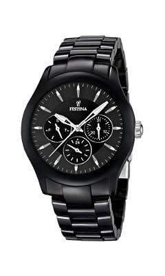 Reloj Festina F16639/2 de cuarzo unisex con correa de cerámica, color negro de Festina