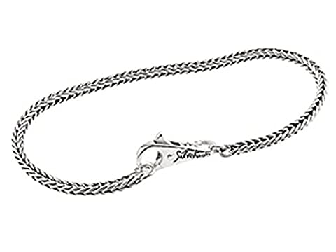 Silverado B- (Ftb001–19) Argent sterling Bundle 3.0mm 19,1cm Perle Bracelet