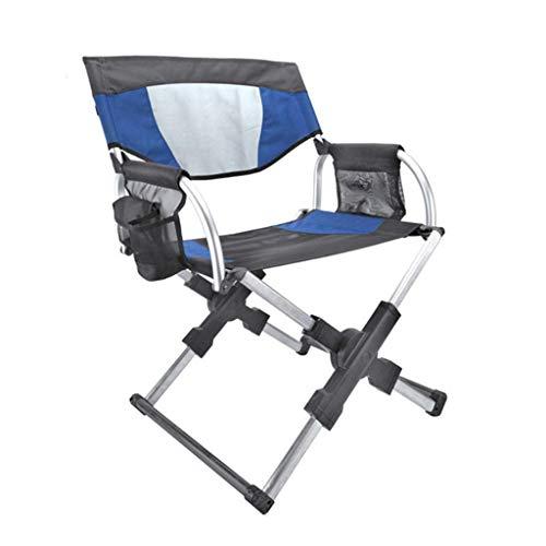 JICEVNK Erholung im Freien Klappstuhl Schulranzen Direktor Stuhl Tragbarer Angelstuhl Campingstuhl Hochwertige Aluminiumlegierung Hochfestes Oxford-Tuch Stabil und bequem tragend 100 kg -