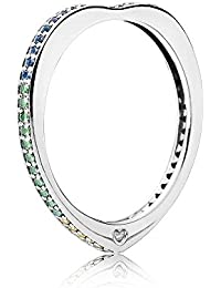 Pandora Ring 197095NRPMX-56 woman silver Love Bow Multicolor