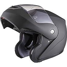 Shox Bullet Flip Front Motorcycle Helmet M Matt Black
