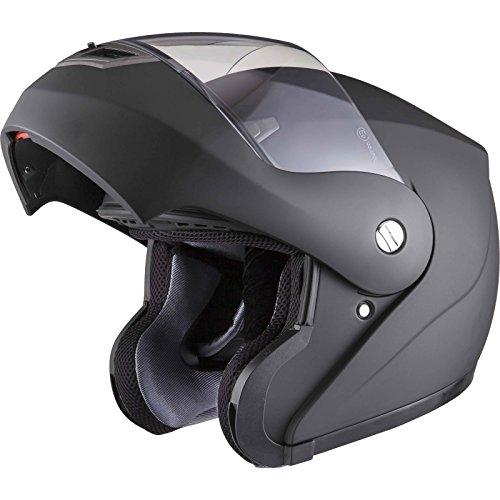 Shox Bullet Casque de moto relevable Noir mat 59-60cm (L)