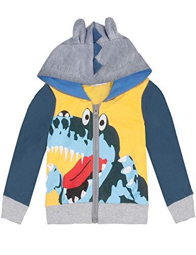 EULLA Jungen Kapuzenpullover mit Reißverschluss Kinder Dinosaur Print Langarm Hoodie Sweatshirt für Jungen - Kinder Sweatshirt Strickjacke