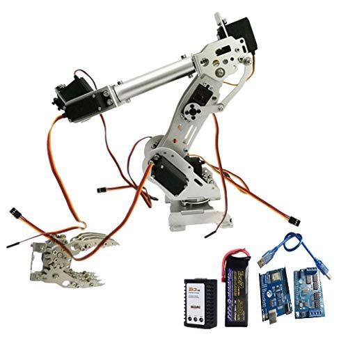 perfk Roboter Arm Bausatz aukasten Roboter-Arm inkl. Servo Griff, Programmierbare Roboter Arme