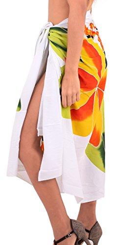 La Leela Badebekleidung Bikini Rock weich coverup Rayon Hibiskus Wrap Sarong 78x43inch Cadmiumgelb Gelb~~Pos=Headcomp
