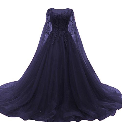 itze Vintage Brautkleider Lange Boho Rustikale Hochzeitskleider (Navy Blau, 40) (Günstige Rustikale Hochzeits-einladungen)