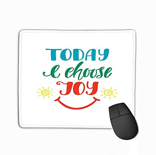 Mouse pad Greeting Card t Shirt Start Your Day Smile Positive Inspirational Quote steelseries Keyboard