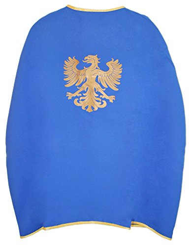 Das Kostümland Ritter Umhang mit Wappen Adler Blau - Adler Jungen Kostüm