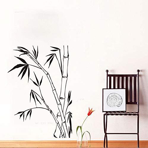 Hwhz 82 X 52 Cm Bambus Wandaufkleber Für Wohnzimmer Wanddekoration Für Heim Diy Wandkunst Aufkleber Tapete Poster Dekoration Zubehör