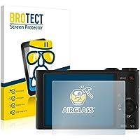 BROTECT AirGlass Protector Pantalla Cristal Flexible Transparente para Sony Cyber-Shot DSC-WX350 Protector Cristal Vidrio - Extra-Duro, Ultra-Ligero, Ultra-Claro