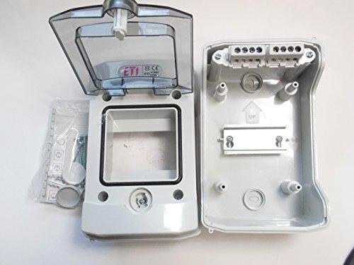 Aufputzverteiler ECH-4G,1-reihig 4 Module, Feuchtraum IP65