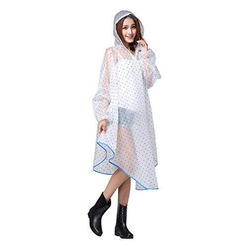 Mujeres niñas Cape Poncho de lluvia portátil Mode abrigo impermeable de EVA–Chaqueta...