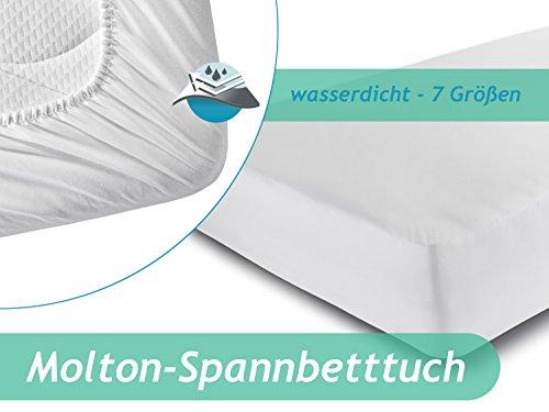Spannbetttuch mit wasserdichter Sperrschicht – erhältlich in 7 Größen - schützt vor Nässe und Verunreinigungen – mit weicher Flanell-Oberseite aus reiner Baumwolle, 140 x 200 cm