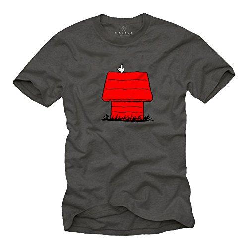 Witzige T-Shirts für Männer Snoop Dog Print Herren Größe XXL (Peanut Snoopy Schlafanzug)
