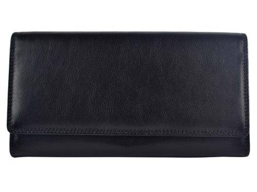 Nuovo da donna grande portamonete in pelle/Portafoglio da Visconti COLLEZIONE HERITAGE Regalo In Scatola 4Colori Black