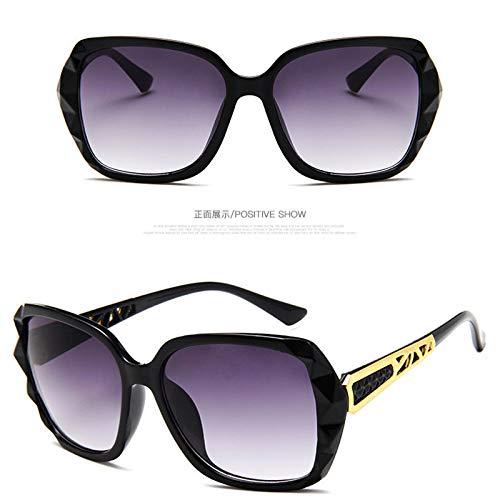 GUOTAIEUP Klassische Sonnenbrille Eyewear Eyeglasses Big Frame Sonnenbrille Frauen Markendesigner Verlaufsglas Driving Sun Glasses Uv400Black