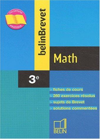 BelinBrevet : Math, 3e