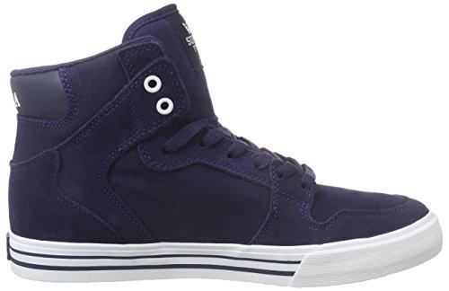 Supra Vaider, Sneakers Hautes mixte adulte Bleu (BLUE NIGHTS - WHITE BNT)