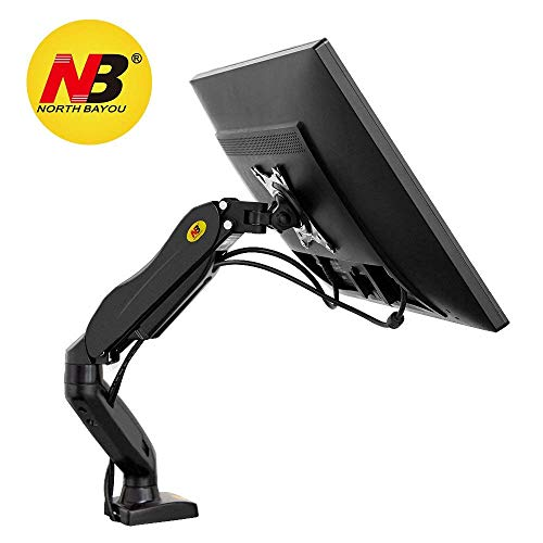 """NB North Bayou F80 17"""" - 27"""" Monitor Tischhalterung mit Justierbare Gasfeder Ergonomische Monitorhalterung Stabile Bildschirmhalterung 2-6kg Monitor Arm Frei Drehbar 360° für 17"""" - 27"""" Bildschirm"""