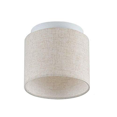 FTFTFTF Deckenleuchte, einfache Deckenleuchte LED Mini Stoff Lampenschirm für Korridor Balkon Beleuchtung,1 (Einfach Zu Hängen Kronleuchter)