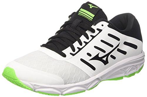 Mizuno Ezrun, Scarpe da Running Uomo, Multicolore (White/Black/Greengecko), 41 EU