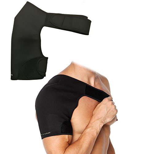 Soporte de Hombro, KIROLAK Soporte de Hombro Neopreno Compresión Calentamiento Hombro Pad Cinturones Baloncesto Badminton Fitness Apoyo Protector - Hombro derecho