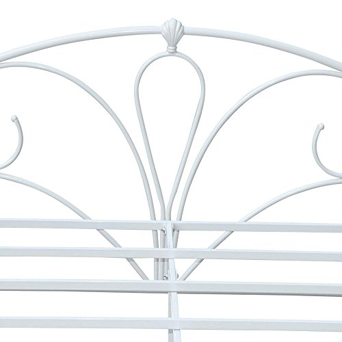 Popamazing� Modern 4ft6 Double Metal Bed Frame White Queen Size Double Bed Frames Steel