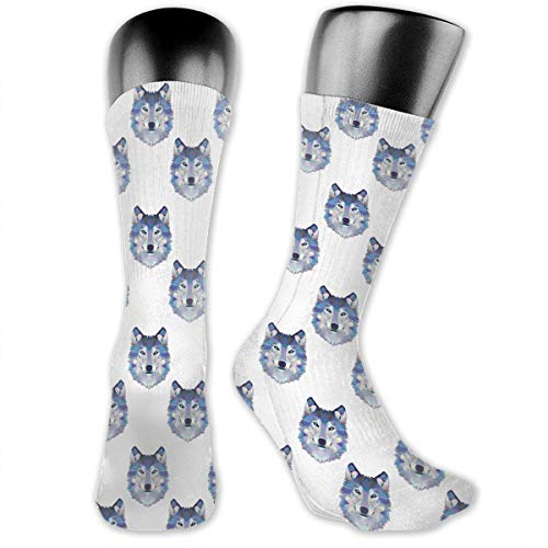 Drempad luxury calze wolf head cotton casual colorful fun below knee high athletic socks