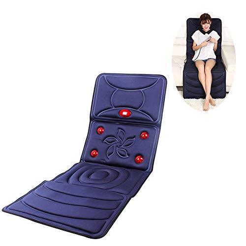 Ngls Handheld-Fernbedienung Massagestühle Sitzauflagen Ganzkörpermassagegerät Multifunktion Vibration Kneten Hals Halswirbel Zurück Heizdecke Matratze Kissen,Blau