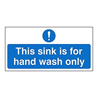 This sink is for hand wash only sign. Self adhesive sticker. 200mm x 100mm (1)