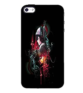 PrintDhaba Music D-4029 Back Case Cover for APPLE IPHONE 4 (Multi-Coloured)