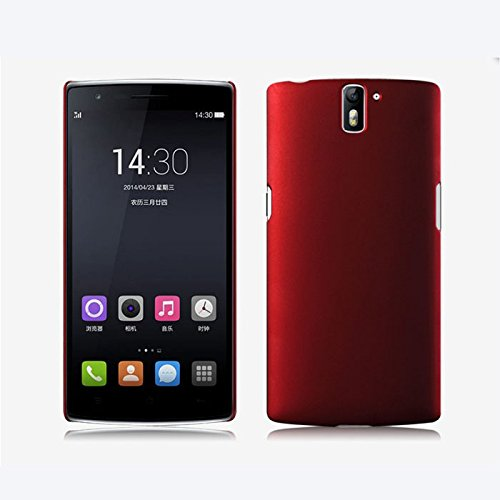 WOW Imagine(TM) Rubberised Matte Hard Case Back Cover For OnePlus One (Maroon Wine Red)