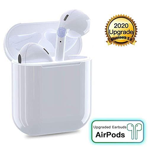 Bluetooth Kopfhörer In-Ear, Wireless Kopfhörer Kabellos Drahtlose Ohrhörer Kopfhörer IPX6 Wasserdicht(POP-UPS&Auto-Pairing) Headsets mit Mikrofon und Ladebox-Weiß