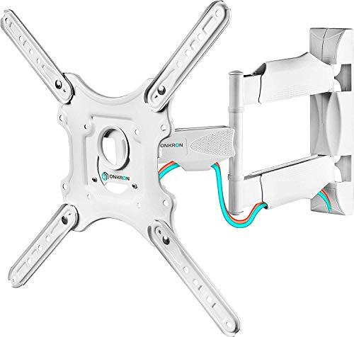 ONKRON M4 WHT Support TV Mural pour des Téléviseurs LCD OLED Plasma DE 32 A 55 Pouces Blanc