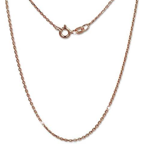 SilberDream, collana da donna, in argento 925, placcato oro rosa, catena da 70 cm, SDK27170E