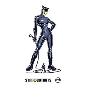 Star Cutouts SC1456 Catwoman - Figura decorativa de cartón (tamaño pequeño, 179 cm), diseño de gato con látigo, multicolor