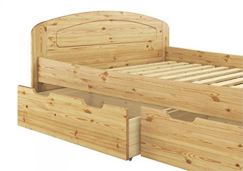 Erst-Holz® Funktionsbett 160×200 Doppelbett + Bettkasten Federholzrahmen Seniorenbett Kiefer 60.50-16 FS