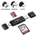 TF/SD USB A 3.0 Kartenleser, Vogek 3 in 1 Externe Kartenlesegerät mit USB A Micro USB und USB A Weiblich für PC/Laptop / Smartphones/Tablets