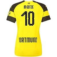 2018-2019 Borussia Dortmund Home Ladies Puma Football Soccer T-Shirt Camiseta (Mario Gotze 10)