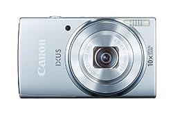 Canon IXUS 155 Digitalkamera (20 MP, 10-Fach Opt. Zoom, 6,8cm (2,6 Zoll) LCD-Display, HD-Ready) Silber