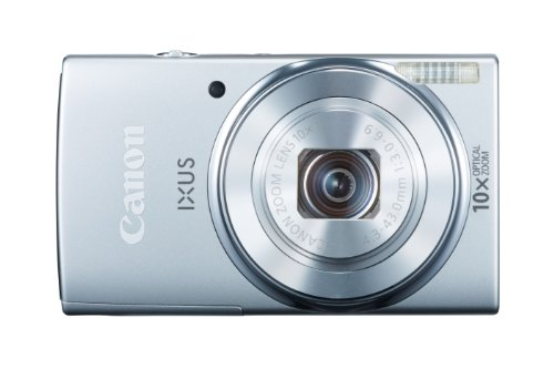 Canon IXUS 155 Digitalkamera (20 MP, 10-Fach Opt. Zoom, 6,8cm (2,6 Zoll) LCD-Display, HD-Ready) Silber