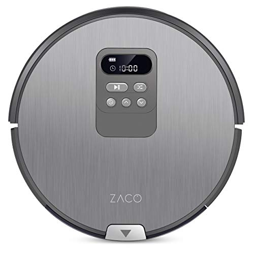 Zaco V80 Saugroboter mit Wischfunktion | intelligente Navigation | 8cm flach | für alle Böden | über 2 Stunden Laufzeit | 2in1 nass Wischen oder Staubsaugen | automatischer Staubsauger Roboter