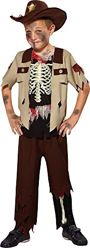 Jungen Halloween Kostüm Wilder Westen Party Zombie Cowboy Kostüm Skelett Sheriff - Multi, Small