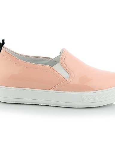 ZQ gyht Scarpe Donna-Mocassini-Casual-Punta arrotondata-Plateau-Finta pelle-Nero / Rosa / Bianco , pink-us11 / eu43 / uk9 / cn44 , pink-us11 / eu43 / uk9 / cn44 white-us8.5 / eu39 / uk6.5 / cn40